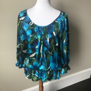 Anne Klein patterned blouse